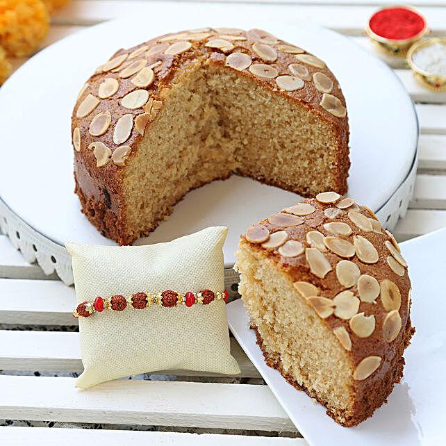 almond dry cake & designer rakhi online:Cakes to Phek