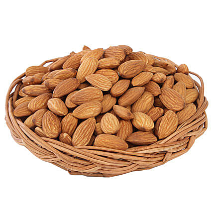 Almonds Basket-premium Almonds in 200 grams,Brown Cane Basket