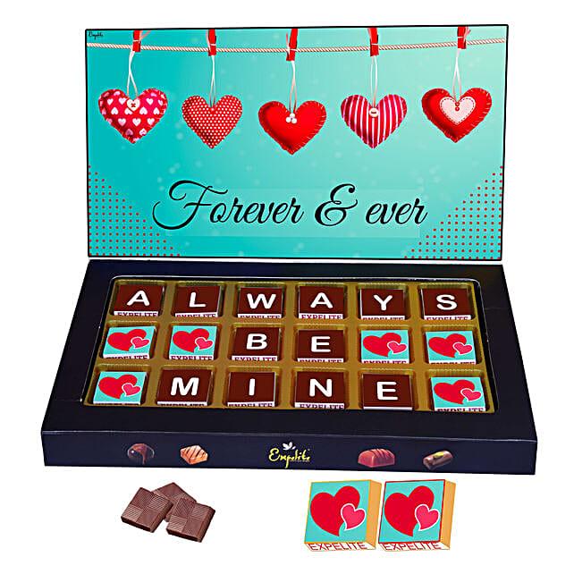 Always Be Mine Personalised Chocolate Gift Box 18 Pcs