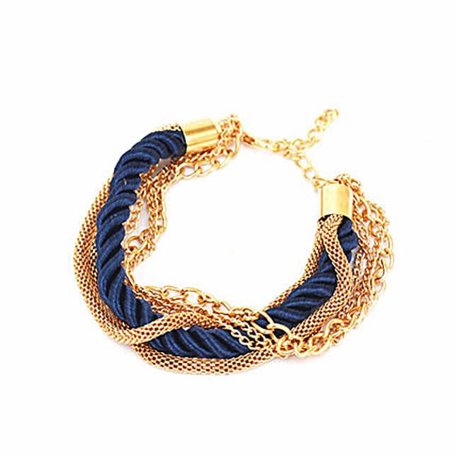 Amazing Navy Blue Stacked Party Bracelet Gift Best