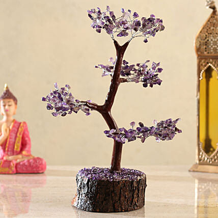 Amethyst Clusters Wish Tree