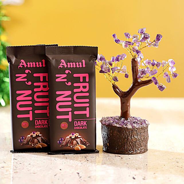 Amethyst Wish Tree & Amul Fruit N Nut