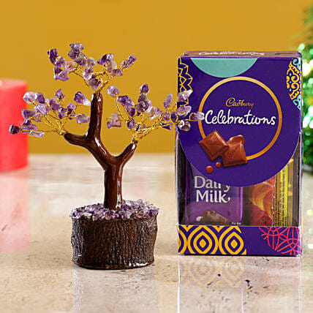 Amethyst Wish Tree & Cadbury Celebrations Mini