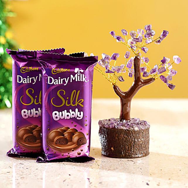 Amethyst Wish Tree & Cadbury Silk Bubbly