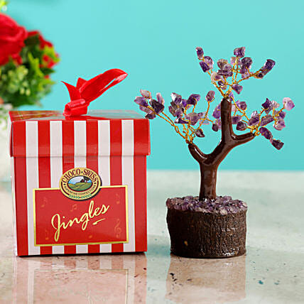 Amethyst Wish Tree & Choco Swiss Jingles Box
