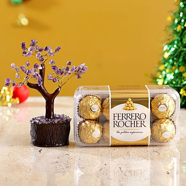 Amethyst Wish Tree & Ferrero Rocher Box