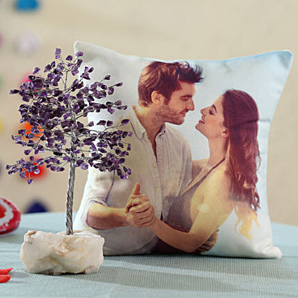 online printed cushion with wish tree for him