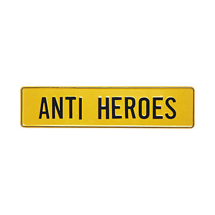 Online Anti Heroes Tin Plate