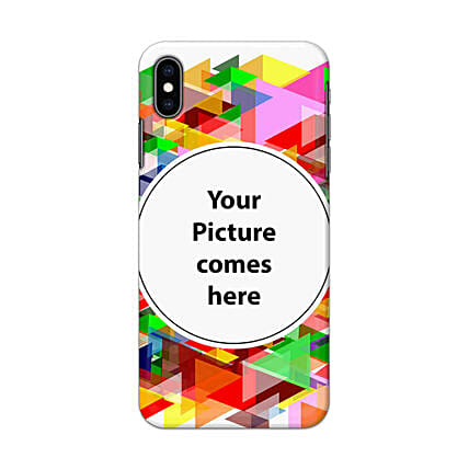 Apple iPhone XS Multicolor Personalised Phone Cover