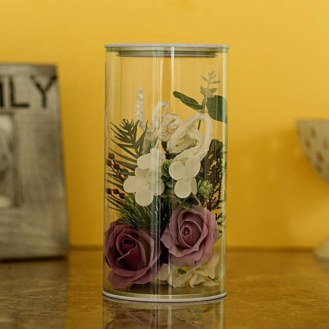 Artificial Mauve Shade Roses Decor:Artificial Flowers