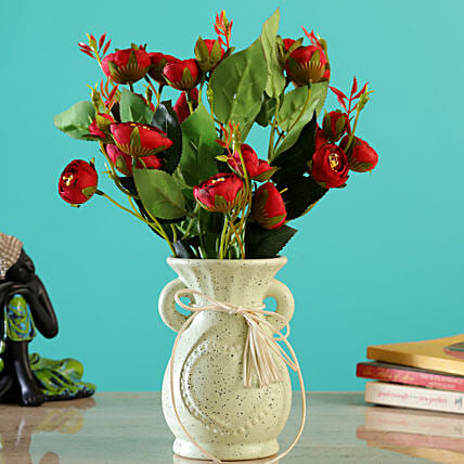 Artificial Red Flower Arrangemnt