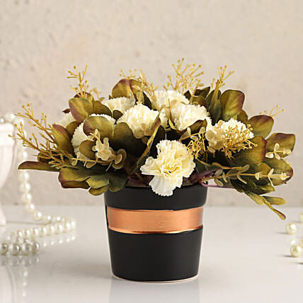Online Artificial White Carnations:Artificial Flowers