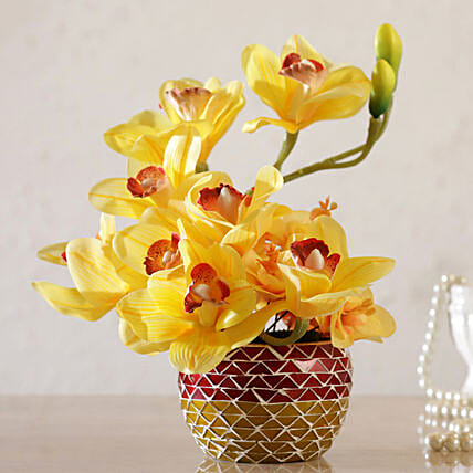 Yellow Artificial Iris Online:Artificial Flowers