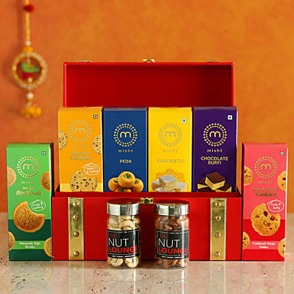 Assorted Misht Sweet Treats & Dry Fruits Diwali Hamper