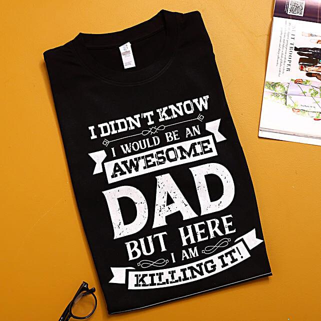 Awesome Dad Black TShirt