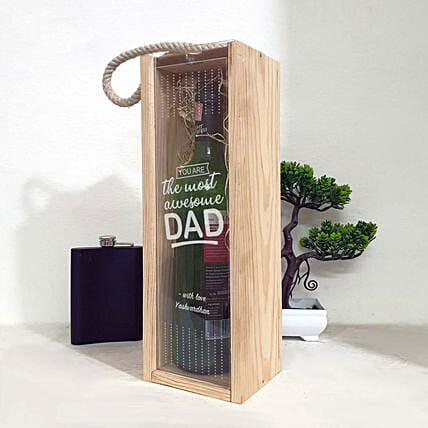 personalised wine box for dad online
