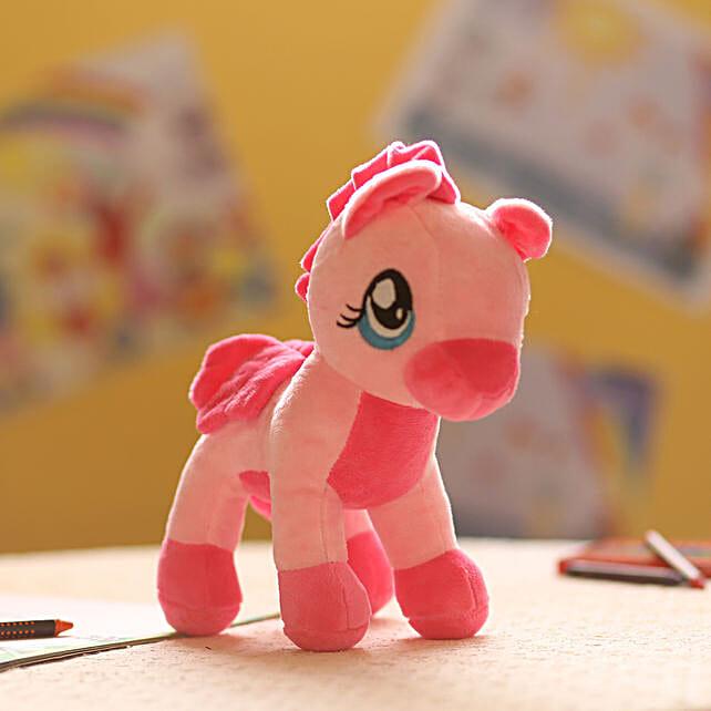 Online Baby Pink Pony Soft Toy