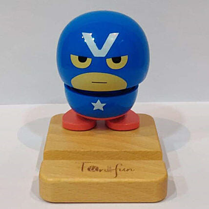 Baby Superhero Bobble Phone Stand Captain America:Mobile Accessories