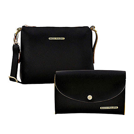 Bagsy Malone Black Sling & Clutch Combo