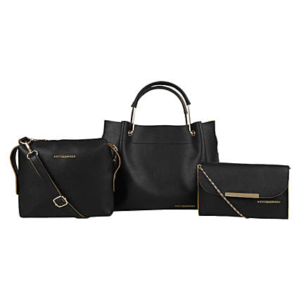 Bagsy Malone Black Tote Bags Combo of 3