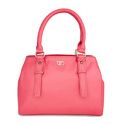 fashionable pink handbag for her