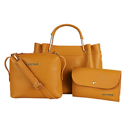 Bagsy Malone Tote Combo Bags- Walnut Brown