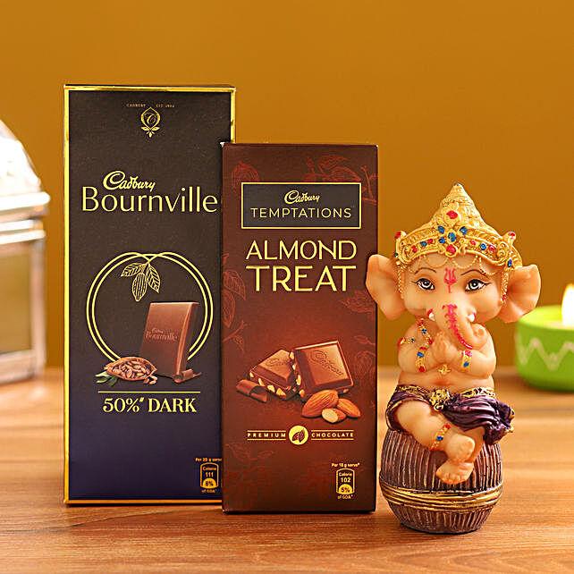 Order  Ganesha Idol and  Rich Chocolate