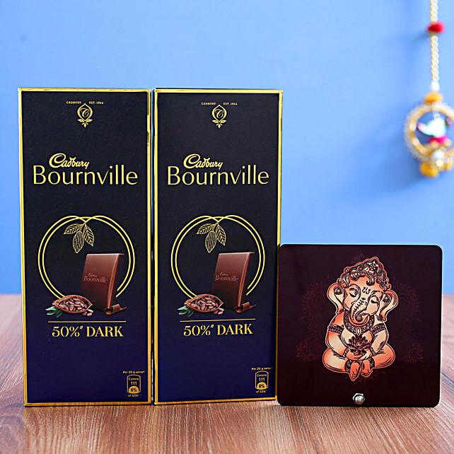 Bal Ganesha Table Top & sweet Cadbury Bournville