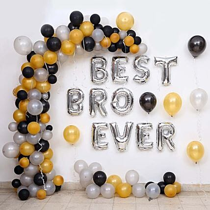 Balloon Décor For Best Bro Ever