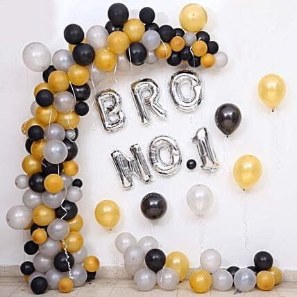 Balloon Decor For Brother No 1:Decoration Services to Kolkata