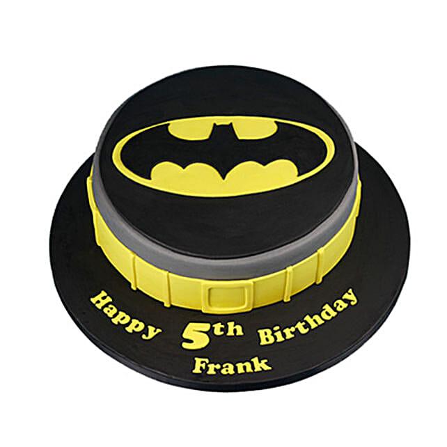 Batman Fondant Cake for Kids 1kg:Batman Theme Cakes