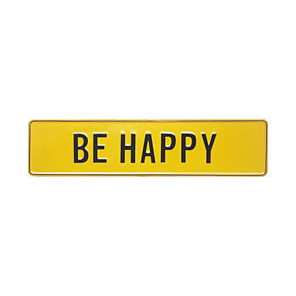 Online Be Happy Tin Plate
