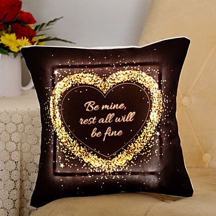 printed heart shape led cushion for your valentine
