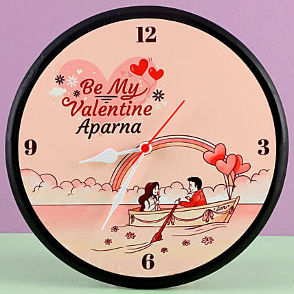 cute message printed wall clock for valentines day