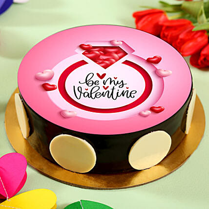 Be My Valentine Chocolate Photo Cake