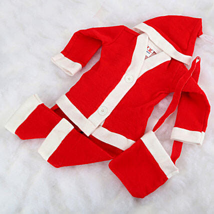 Santa claus baby dress.:Gift Delivery in Sonbhadra