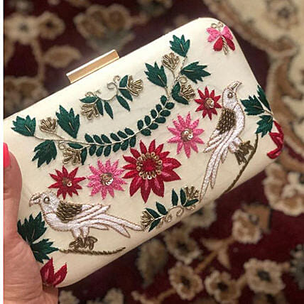 Beautiful Banarsi Silk Customised Clutch
