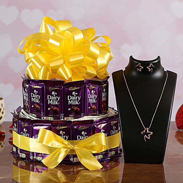Cadbury Chocolate Bouquet with Jewelry