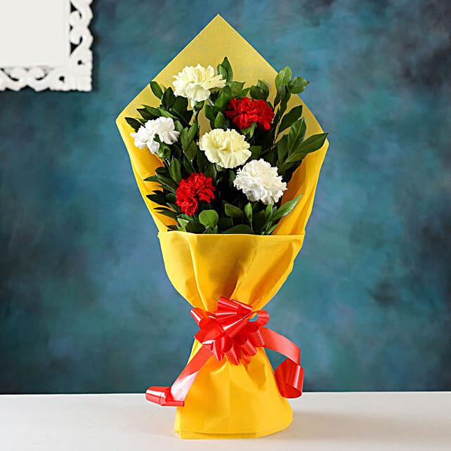 Beautiful Carnations Hand Tied Bunch