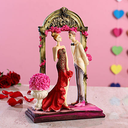 Beautiful Couple In Frame Figurine:Show Pieces For Valentine's Day