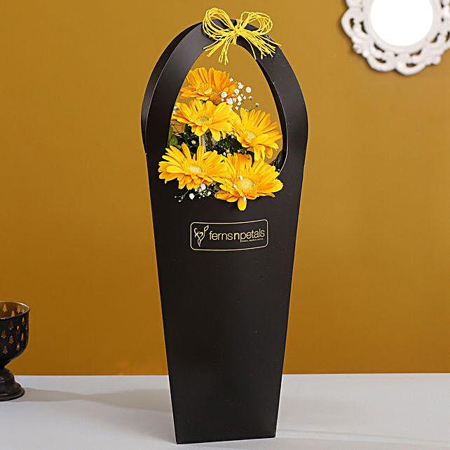 Beautiful Gerberas In FNP Sleeve Bag:Send Flowers In Sleeve