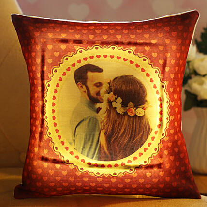 Beautiful In Love Personalised LED Cushion Hand Delivery