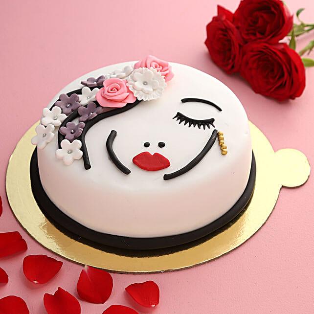 Beautiful Lady Truffle Cake:New Arrival Cakes