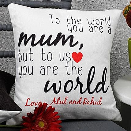 Message cushion for mom