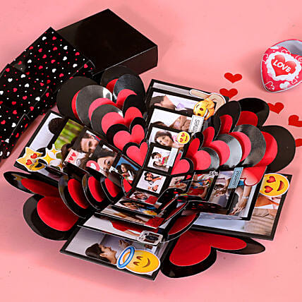 heart shape explosion box:Explosion Gift Box
