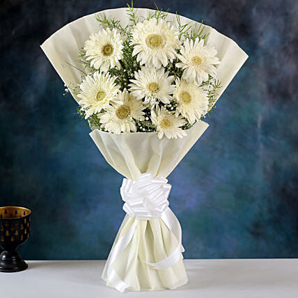 Beautiful White Gerbera Bouquet