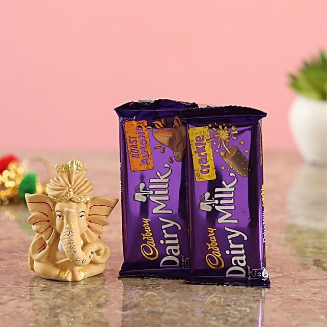 Beige Ganesha Idol Cadbury Delights