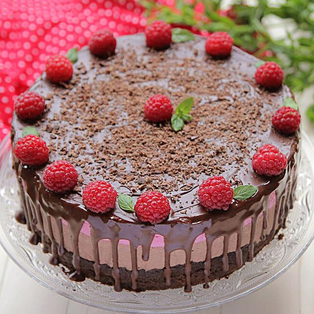 Berries Topping Cake - Chocolate