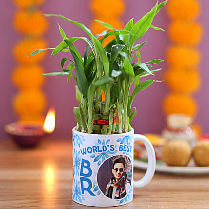 Plant in Photo Mug for Brother