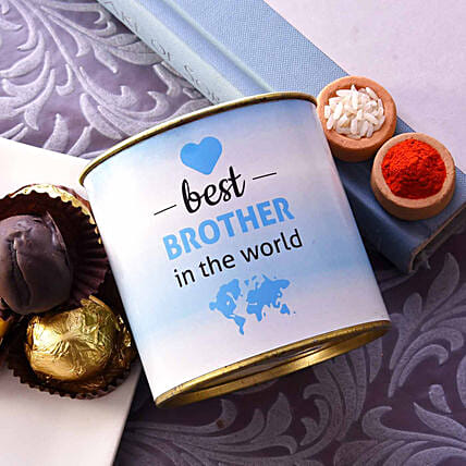 Best Brother Truffle Tin With Roli & Chawal